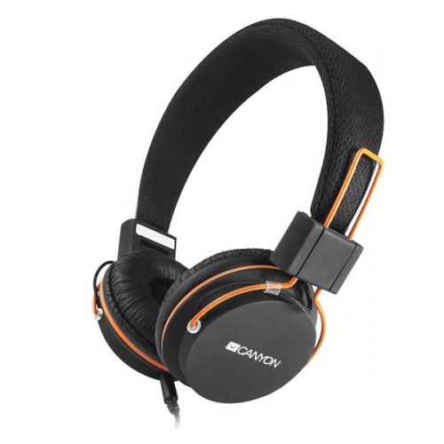 93a99391d Canyon CNE-CHP2, slúchadlá na uši s integrovaným mikrofónom, skladacie,  čierne