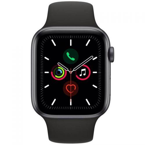 Apple Watch Series 5 44mm Space Gray with alu black sport loop MWWE EU