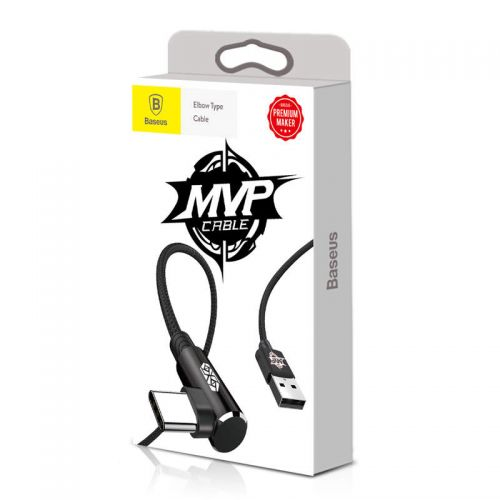 Baseus Type-C MVP Elbow Type Cable USB 1m Black (CATMVP-A01)