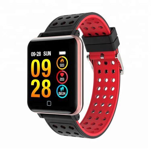 Smart Watch M19 (sportové hodinky) červené